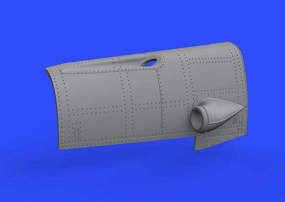 Bf 109F двигатель и фюзеляжное вооружение 1/48  - 4