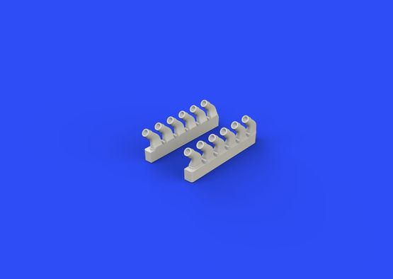 Spitfire exhaust stacks - rounded 1/72  - 4
