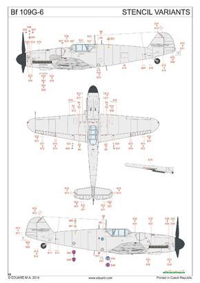 Bf 109G-6 decals 1/48  - 4