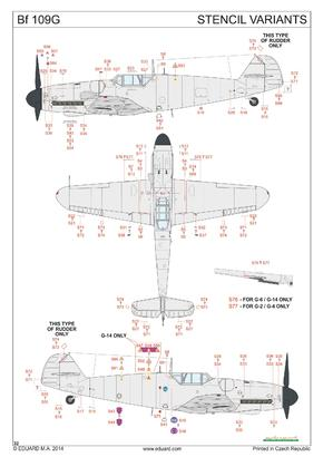 Bf 109G Royal decals 1/48  - 4