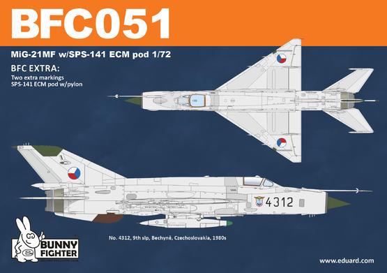 MiG-21MF w/SPS-141 ECM pod 1/72  - 4