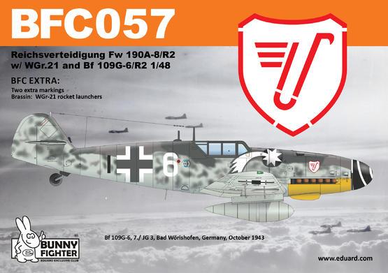 Reichsverteidigung Fw 190A-8/R2 & Bf 109G-6 1/48 kit 1/48  - 4