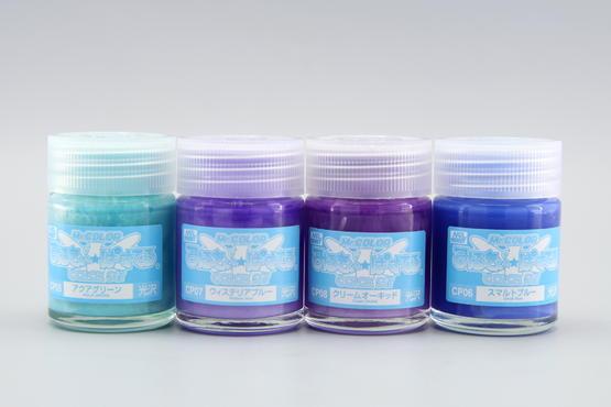 Mr.Color - set of 4 blue pastel colors  - 4