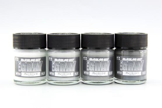 Mr.Color - set of 4 gray pastel colors  - 4