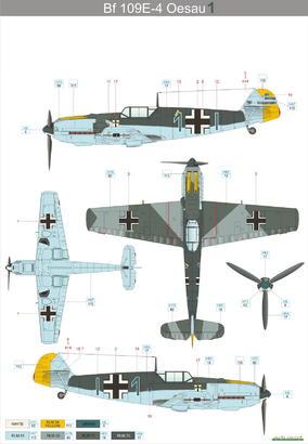 Bf 109E-4  1/48 1/48  - 4
