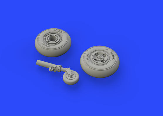 Spitfire Mk.VIII wheels - 4 spoke w/ smooth tire 1/72  - 3