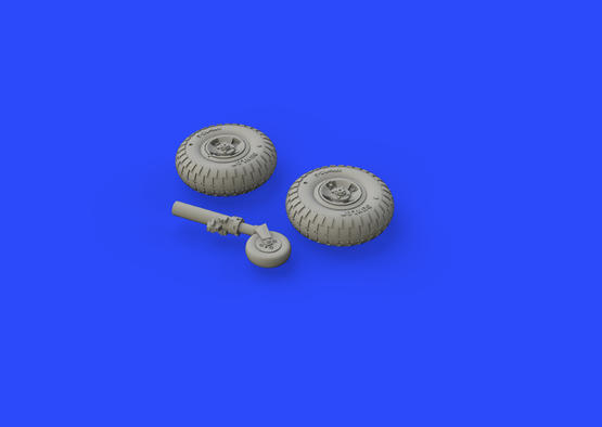 Spitfire Mk.VIII wheels - 4 spoke w/ pattern 1/72  - 3