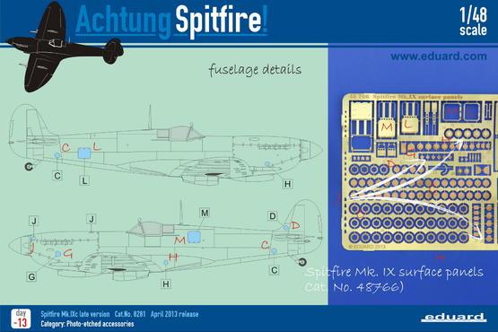 Spitfire Mk.IX povrchové panely 1/48  - 5