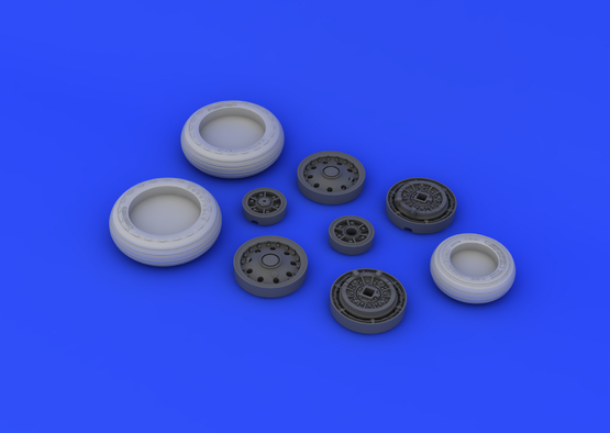F-104 undercarriage wheels early  1/32 1/32  - 5