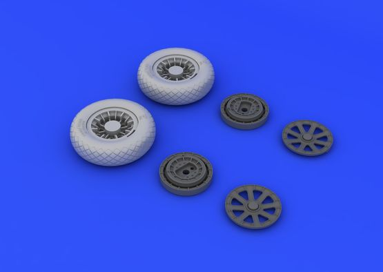 F4U-1 wheels diamond pattern 1/32  - 5