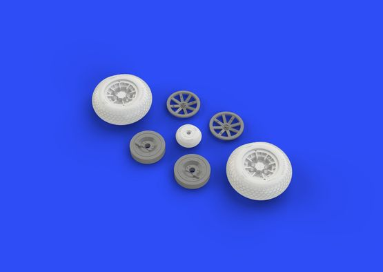 P-40 wheels w/ pattern  1/32 1/32  - 5