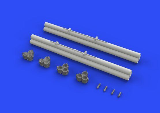 Bazooka rocket launchers for P-40 1/32  - 5
