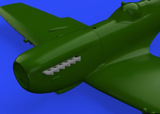 Spitfire Mk.IX exhaust stack - fishtail 1/32  - 5