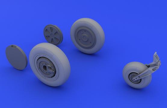 МиГ-21 колеса 1/48  - 5