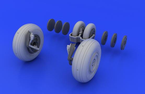 MiG-29 wheels 1/48  - 5