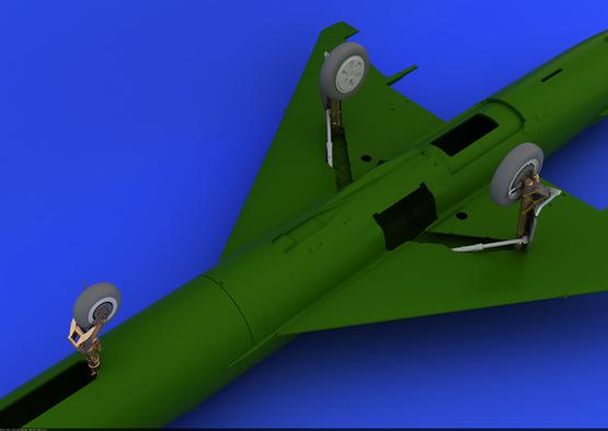 MiG-21 undercarriage legs BRONZE 1/48 1/48  - 5