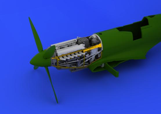 Spitfire Mk.IX двигатель 1/48  - 5