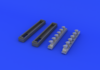 Bf 109G exhaust stacks 1/48 - 5/6
