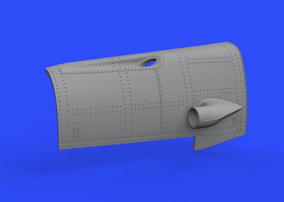Bf 109F двигатель и фюзеляжное вооружение 1/48  - 5