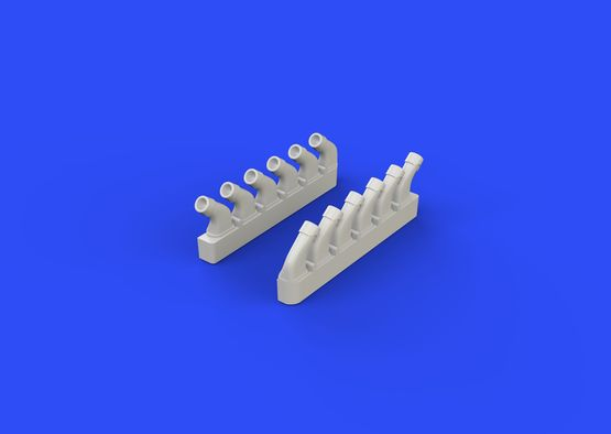 Spitfire exhaust stacks - rounded 1/72  - 5