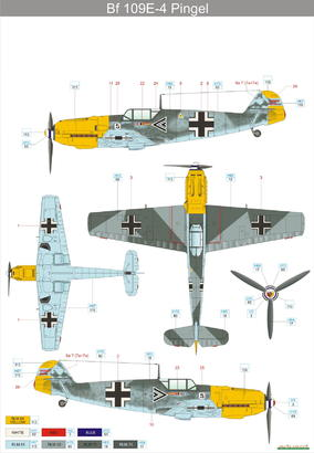 Bf 109E-4  1/48 1/48  - 5