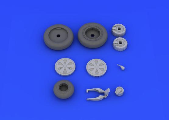 MiG-21PFM wheels 1/48  - 6