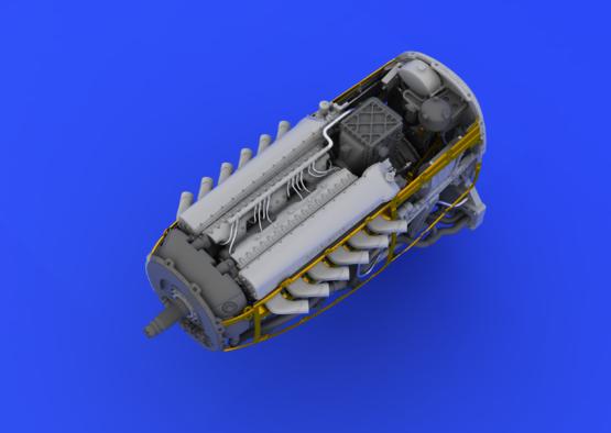 Spitfire Mk.IX двигатель 1/48  - 6