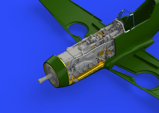 Bf 109F двигатель и фюзеляжное вооружение 1/48  - 6