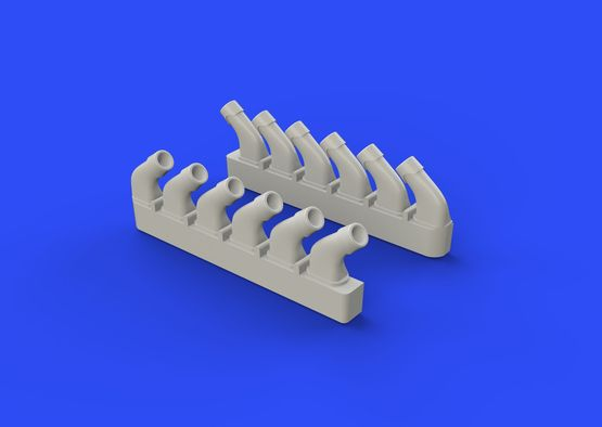 Spitfire exhaust stacks - rounded 1/72  - 6