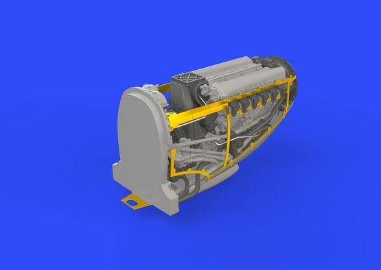 Spitfire Mk.IX двигатель 1/72  - 6