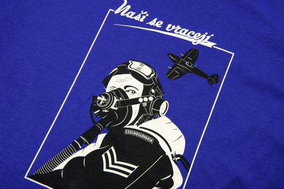 "T-shirt Spitfire pilot ""Nasi se vraceji"" (XXL)  - 6"