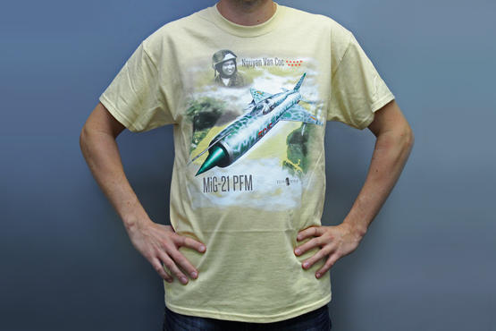 T-shirt MiG-21PFM (XL) - Rezavá Vrtule  - 6