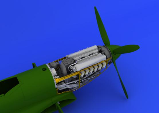 Spitfire Mk.IX двигатель 1/48  - 7