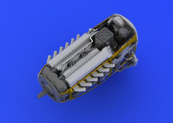 Spitfire Mk.VIII motor 1/48  - 7
