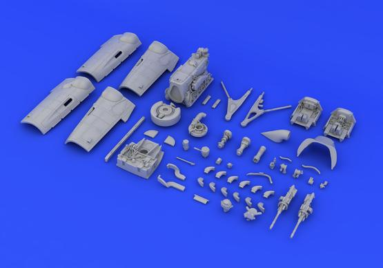 Bf 109G-6 engine & fuselage guns 1/48  - 7