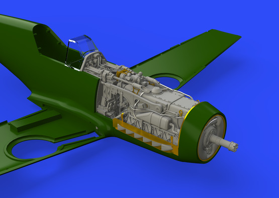 Bf 109F engine & fuselage guns 1/48  - 7