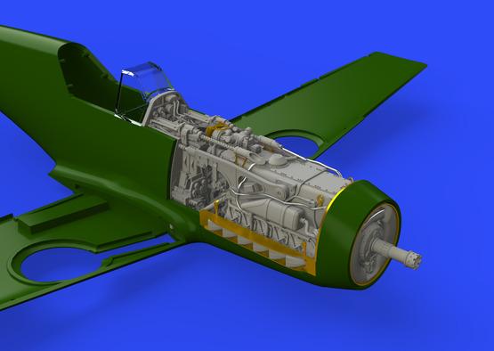 Bf 109F двигатель и фюзеляжное вооружение 1/48  - 7