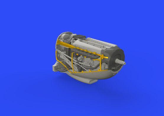 Spitfire Mk.IX двигатель 1/72  - 7