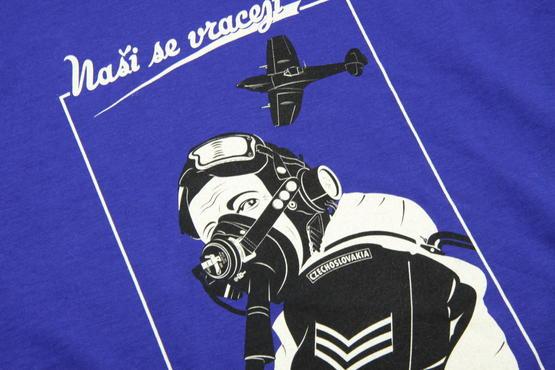 "T-shirt Spitfire pilot ""Nasi se vraceji"" (XXL)  - 7"