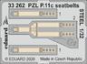 PZL P.11c seatbelts STEEL 1/32