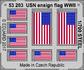 USN ensign flag WW2  STEEL 1/700