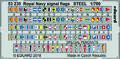 ロイヤルネイビー 軍艦旗 スチール製 1/700