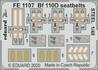 Bf 110D seatbelts STEEL 1/48