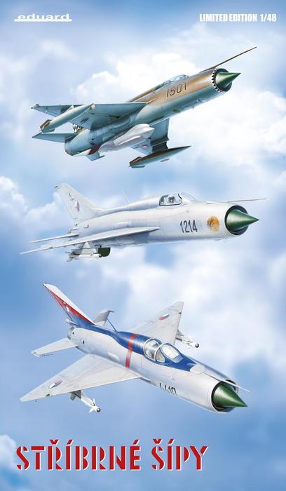 "MiG-21PF (Eduard  réf 1187 ""Silver Harrows "" 1/48)  1187_z1"