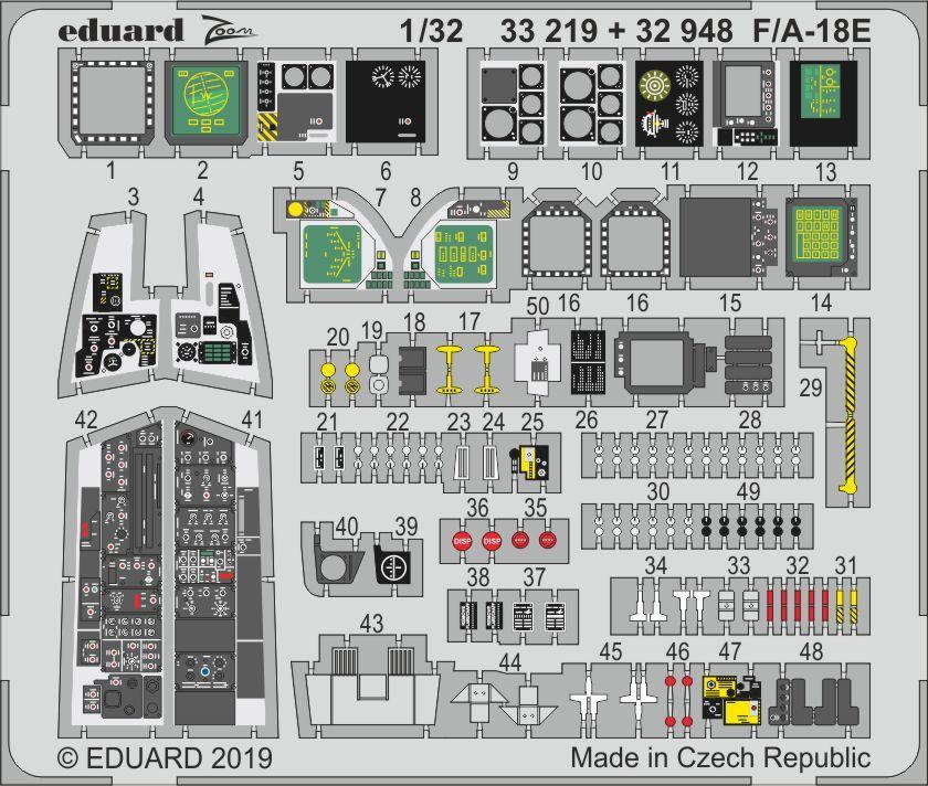 Eduard 632136  1//32 F//A-18E Wheels for Revell Resin