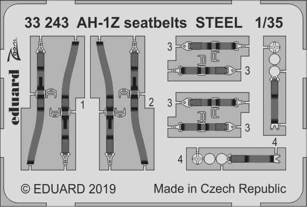Eduard Zoom FE1043 1//48 Lockheed P-38F//G Lightning seatbelts STEEL TAMIYA