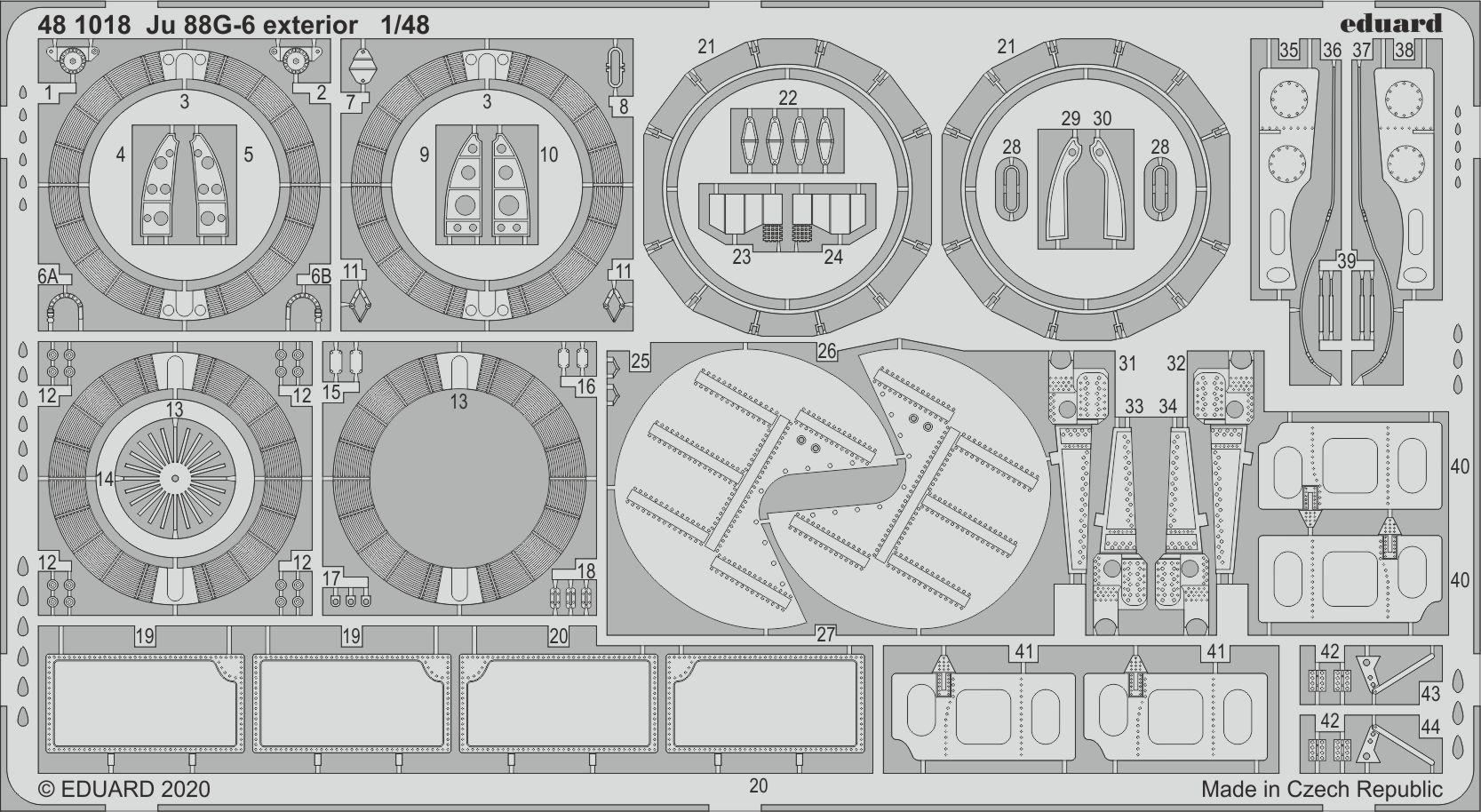 EX541 Eduard mask 1//48 Ju 88A-14 for ICM kit