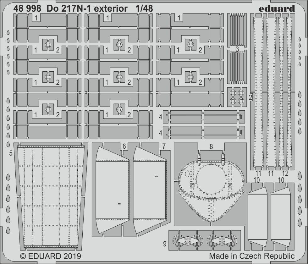 Eduard Accessories EX598 He 111H-6 for ICM in 1:48