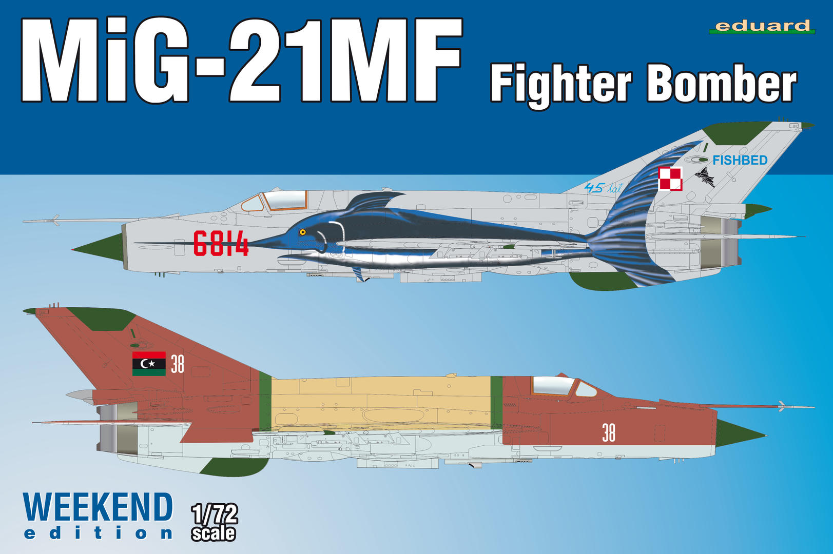 Eduard Accessories 672193 MiG-21MF airbrakes for Eduard in 1:72