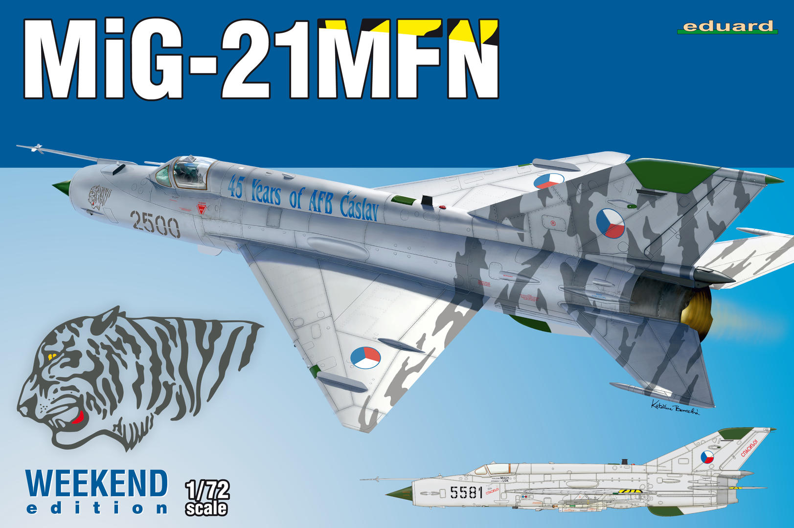 MiG-21PF 3907455 Eduard Plastic Kits Weekend Edition in 1:72